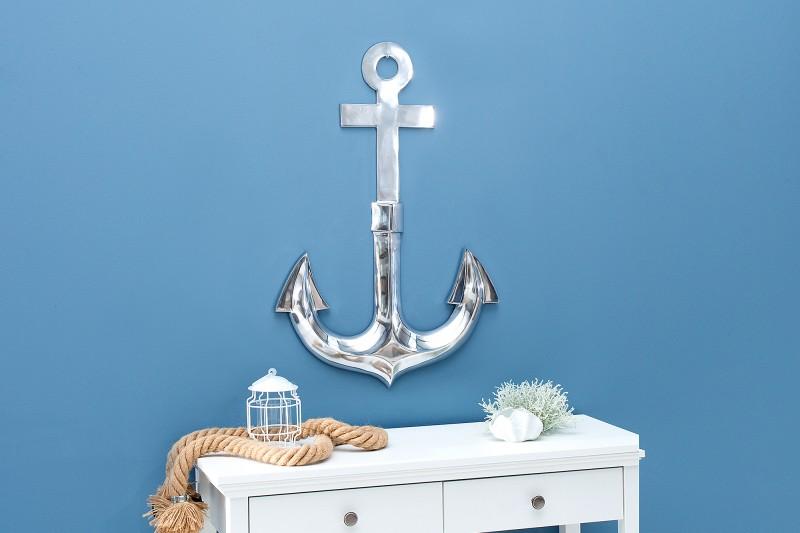 Nástěnná dekorace Achor 70cm stříbrná 3D / 38600