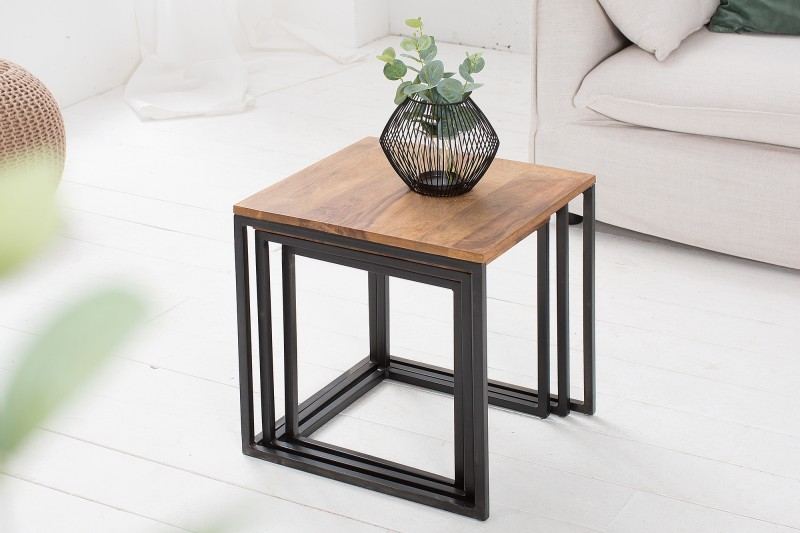 Konferenční stolek Juliet 3ks - Sheesham / 38605