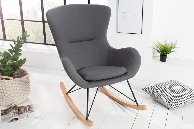 Houpací křeslo Nordic Swing Wood - tmavě šedé / 38230