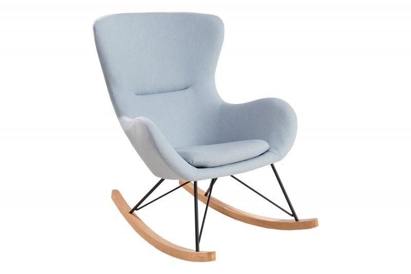 Houpací křeslo Nordic Swing Wood - světle modré / 38231