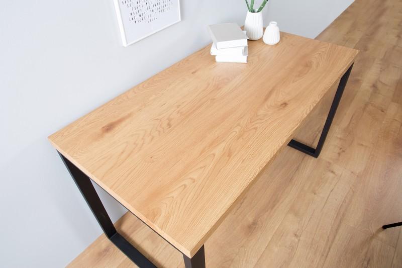 Pracovní stůl dubový 120cm černý dub / 38428