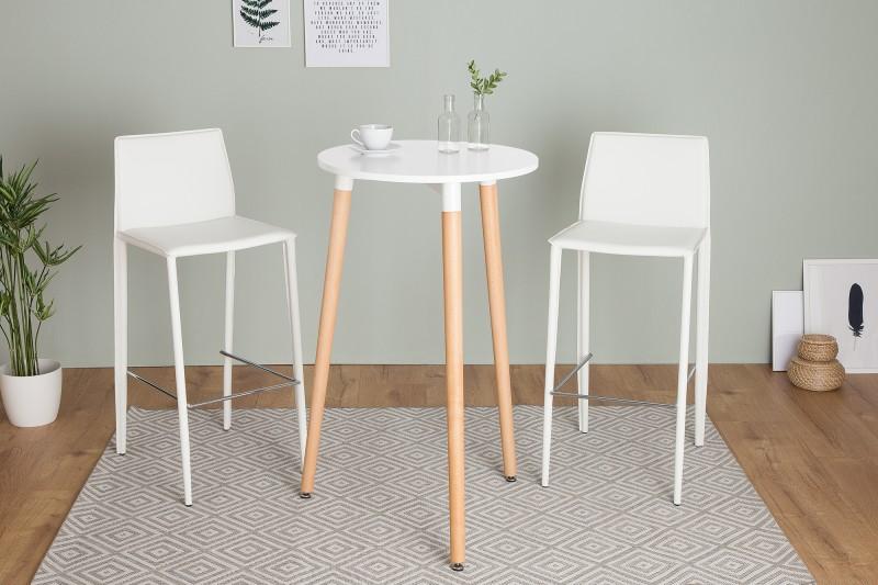 Barový stůl Scandinavia 105cm bílý buk / 38440