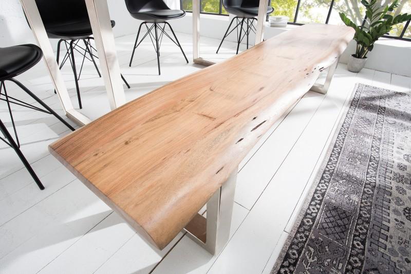 Mamutí lavička 200cm akát 35mm PŘÍRODA