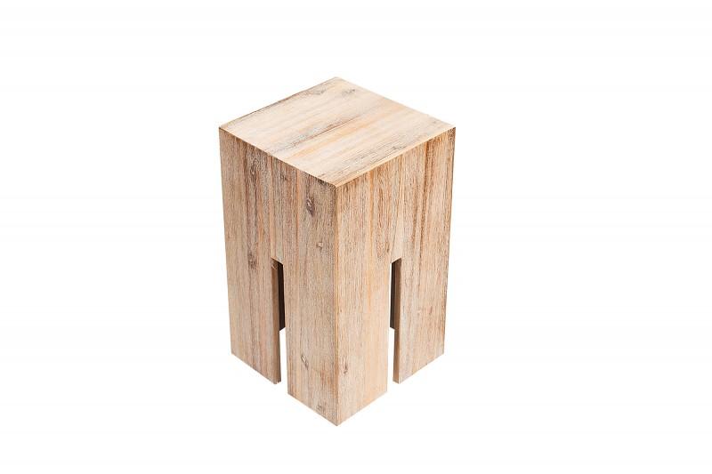 Zámková stolička 45 cm teak šedá / 37286