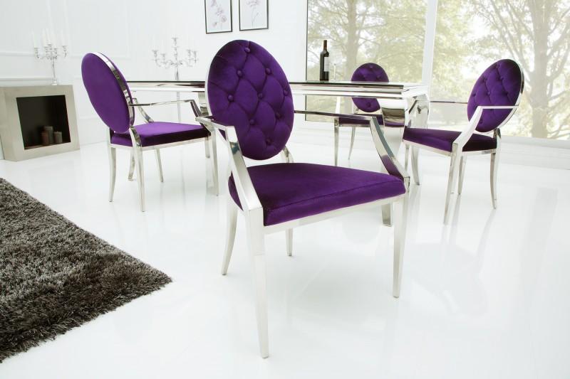 Stuhl modern barock lila