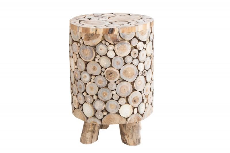 Mozaiková stolička 45 cm teak / 37628