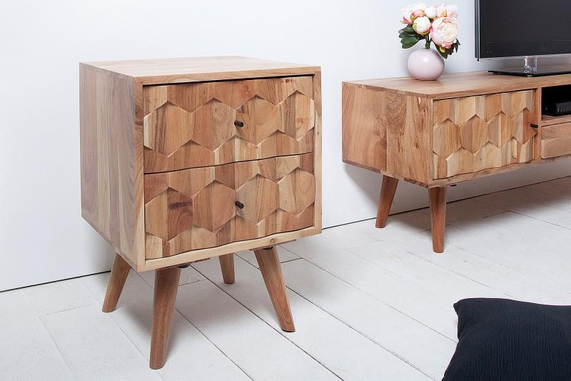 Noční stolek Viamo 40cm x 56cm - akát / 38424