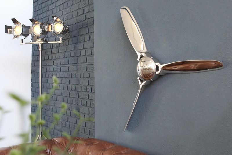 Dekorační vrtulový šroub III 90cm stříbrný / 38540
