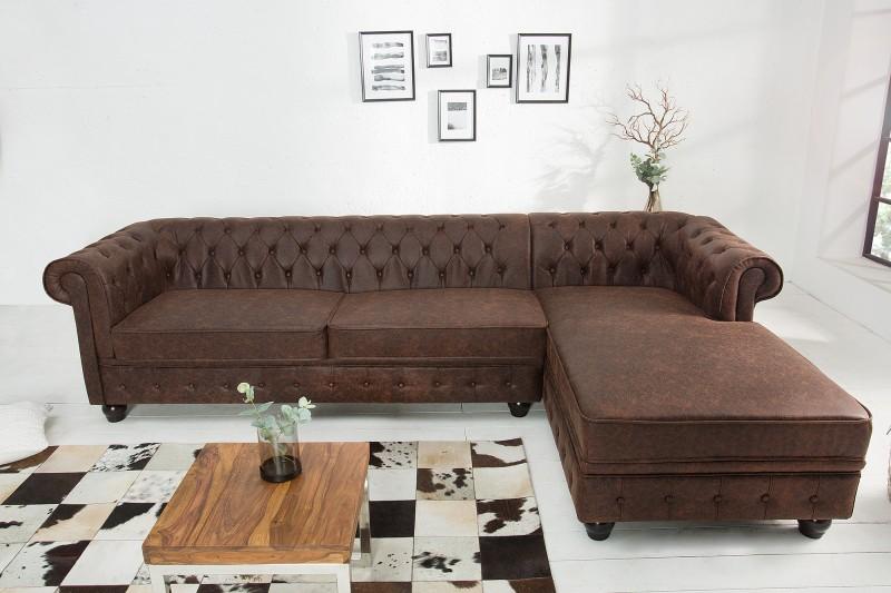 Pohovka Chesterfield 280cm - vintage hnědá / 38523