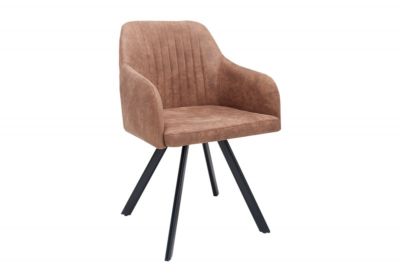 Jídelní židle Portland - vintage hnědá / 38308