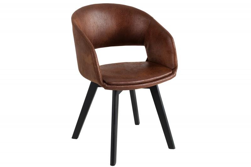 Jídelní židle Viborg - starožitná hnědá / 38504