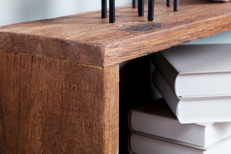 Nástěnná police Tyller 3ks - recyklovaného dřeva / 38304