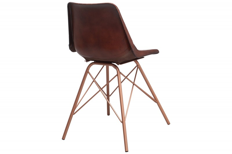 Židle Toro hnědá prošívaná kůže / 38482