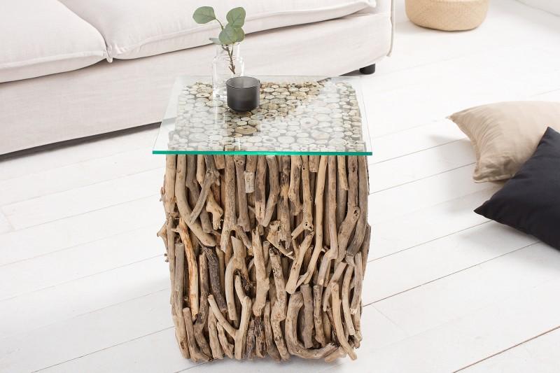 Konferenční stolek Driftwood 40cm - naplavené dříví / 38241