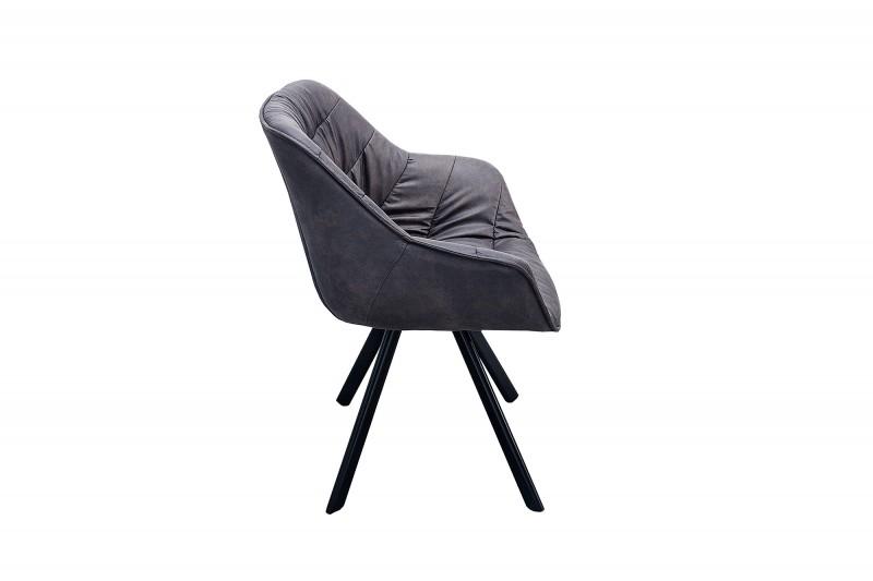 Holandská židle Comfort starožitná šedá / 37610