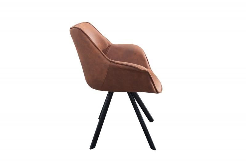 Židle The Dutch Retro starožitná hnědá / 37613