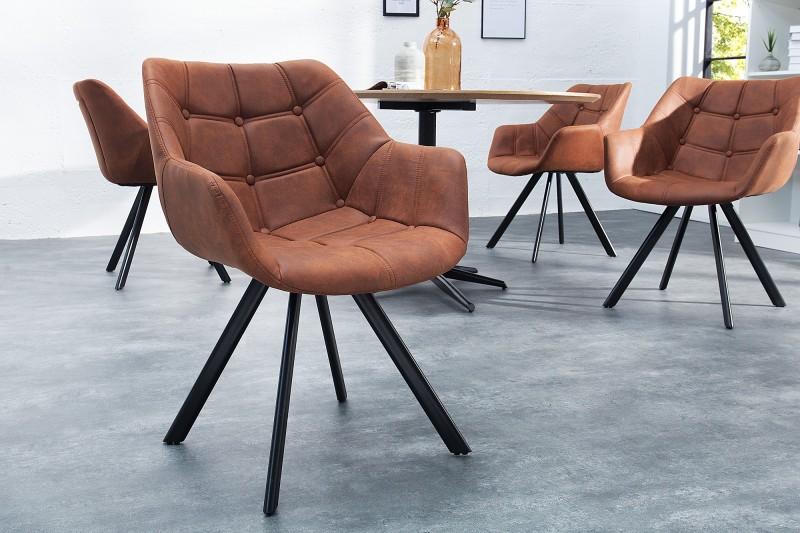 Jídelní židle Molly Courturier  - starožitná hnědá / 37614