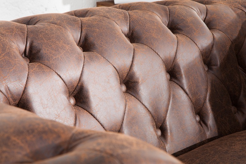 Pohovka Chesterfield II 150cm - vintage hnědá / 37201