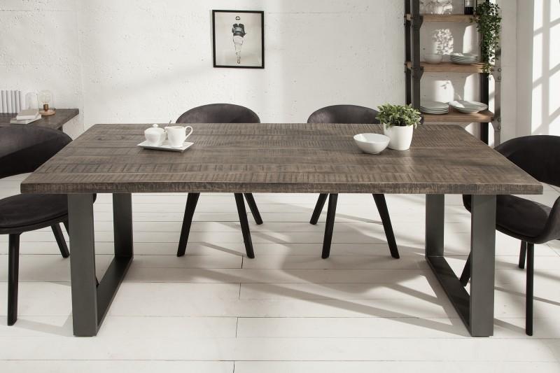 Jídelní stůl Iron Craft 160cm šedá mango / 38655