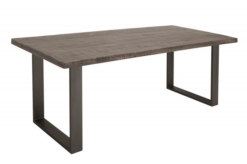 Jídelní stůl Hobart Grey 160cm x 90cm - šedé mango / 38655