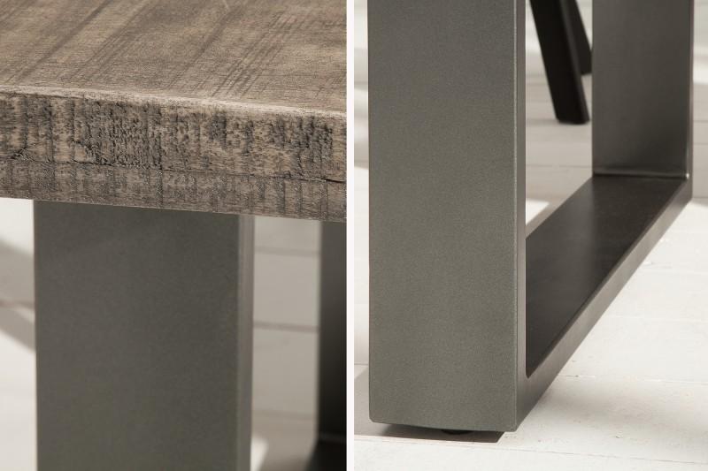 Jídelní stůl Hobart Grey 180cm x 90cm - šedé mango / 38657