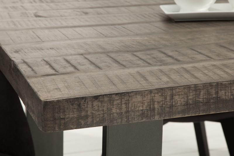 Jídelní stůl Hobart Grey 200cm x 90cm - šedé mango / 38659