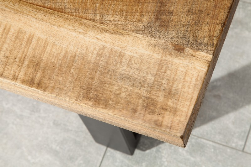 Lavička Iron Craft 170cm přírodní mango / 38666