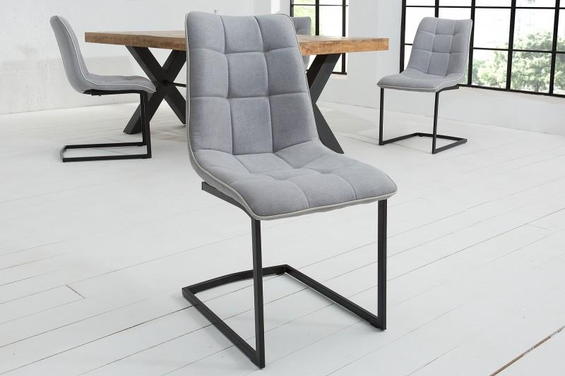 Konferenční židle Miami světle šedá vinobraní / 38500