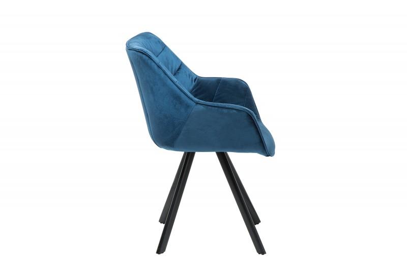 Jídelní židle Molly Comfort - modrá, samet / 38597 - 1ks skladem