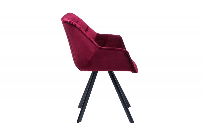Jídelní židle Molly Comfort - bordeaux, samet / 38598