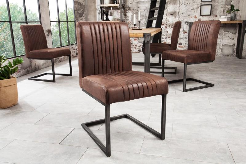 Konzolové židle Big Aston vintage hnědé železo / 38105