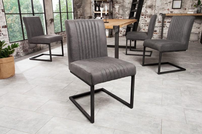 Jídelní židle Leanne - vintage šedá / 38106
