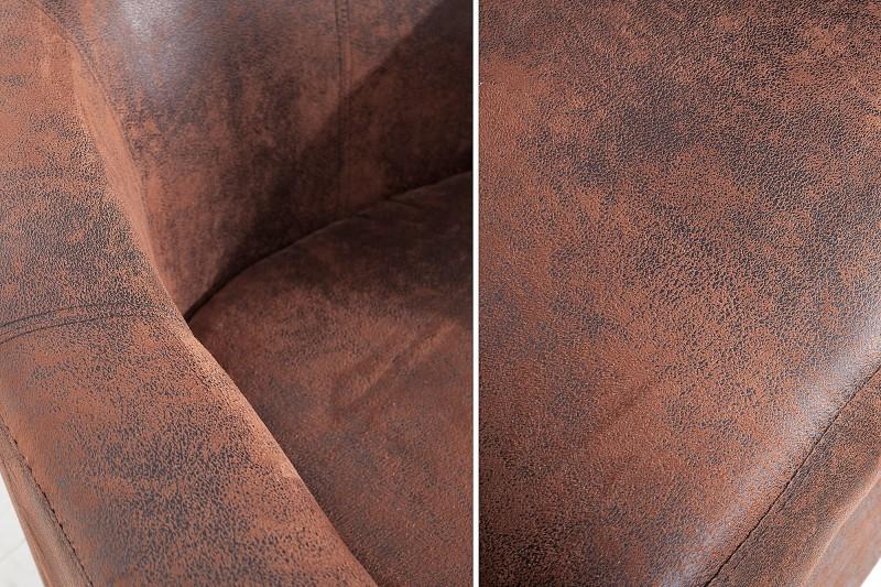 Křeslo Lincoln - vintage hnědé / 38475