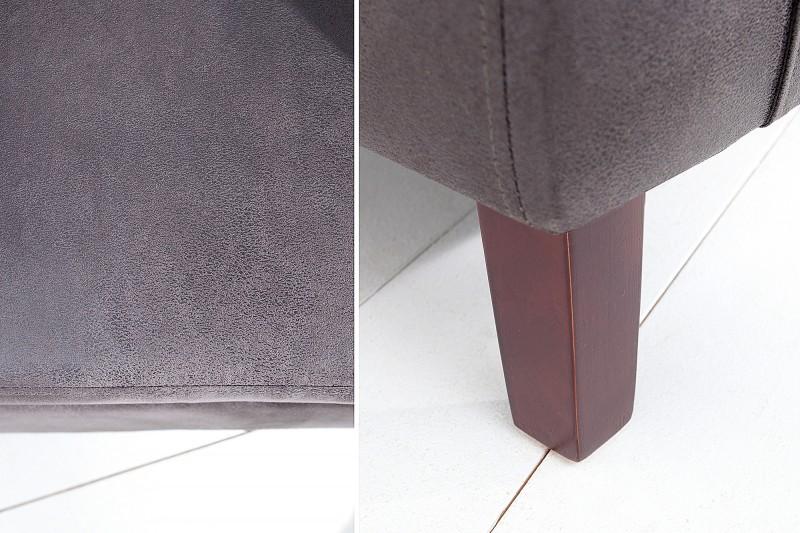 Křeslo Lincoln - vintage šedé / 38476