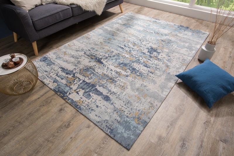 Koberec abstraktní 240x160cm modrý / 38759