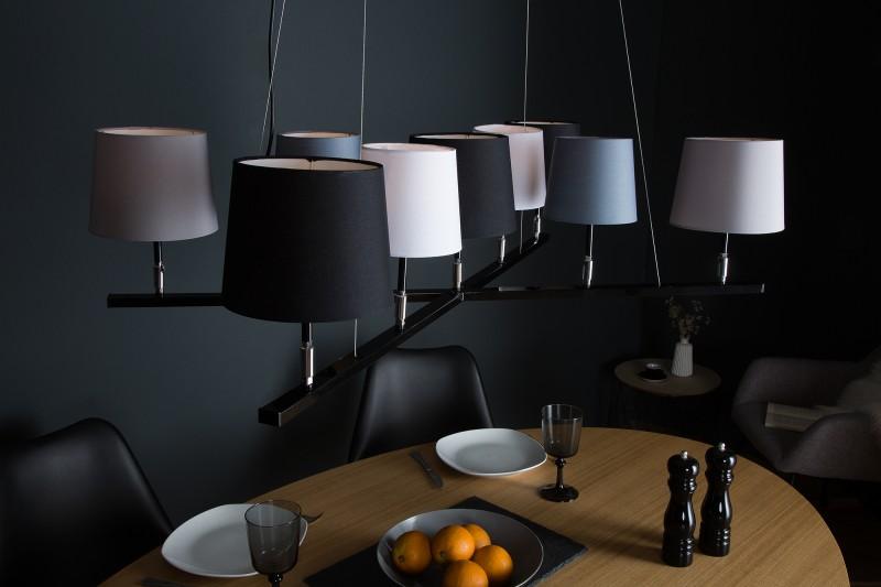 Závěsné světlo Friida II - šedá, černá, bílá, béžová / 38822