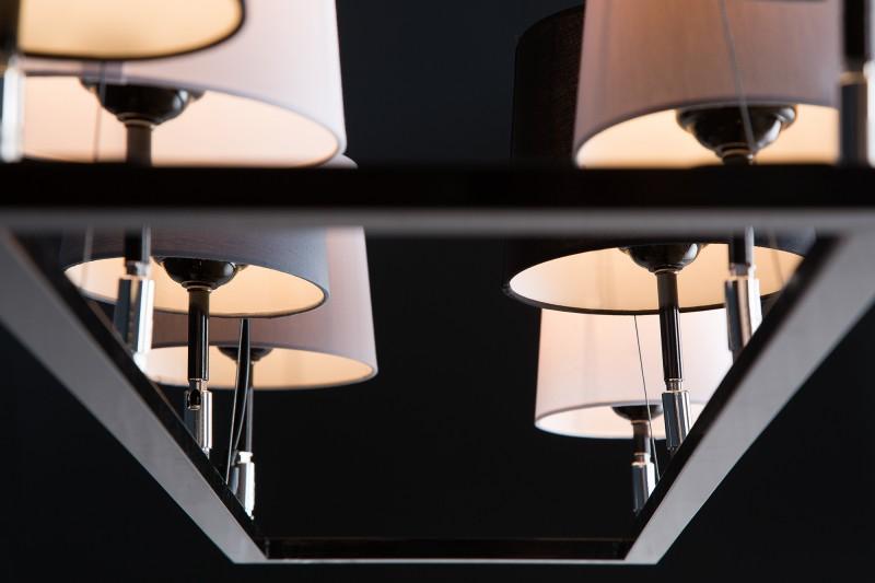 Závěsné světlo Friida III - černá, šedá, bílá, béžová / 38823
