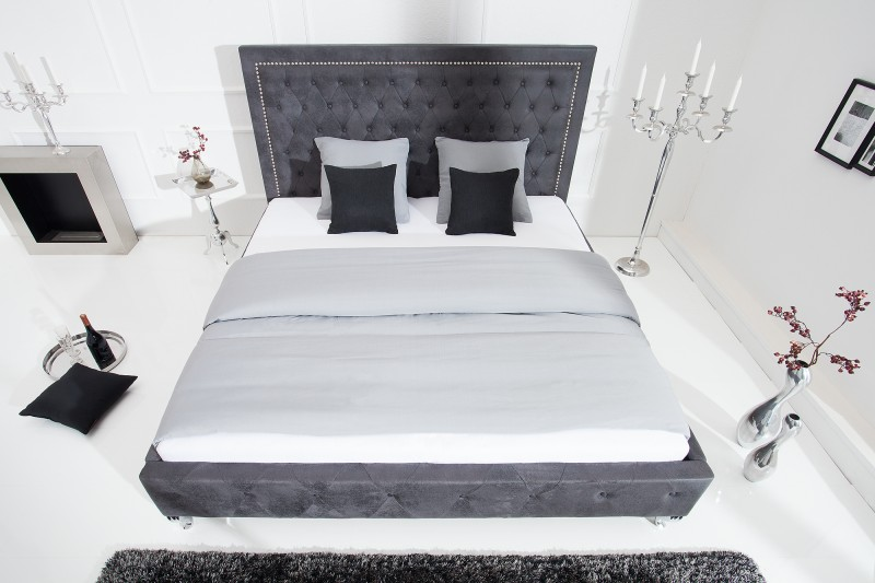 Extravaganční postel 180x200cm antická šedá / 38484