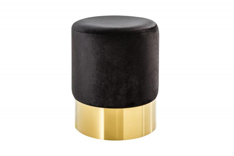 Moderní barokní stolička 35cm černé zlato / 38575