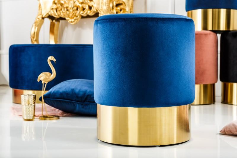Moderní barokní stolička 35cm modré zlato / 38576