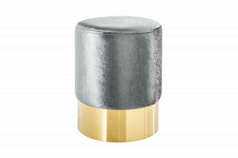 Moderní barokní stolička 35cm stříbrné zlato / 38577