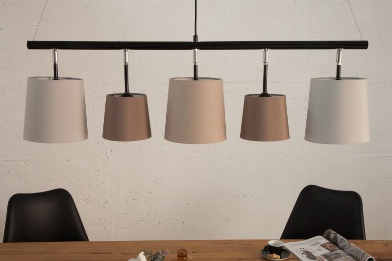 Závěsné světlo Friida 100 cm - šedá, béžová, hnědá / 38826
