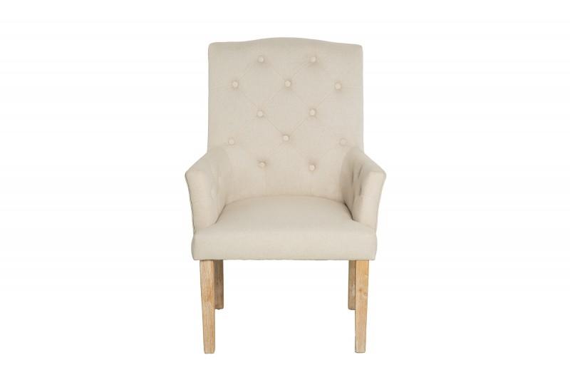 Židle pod béžovou loketní opěrkou Long Island / 38785