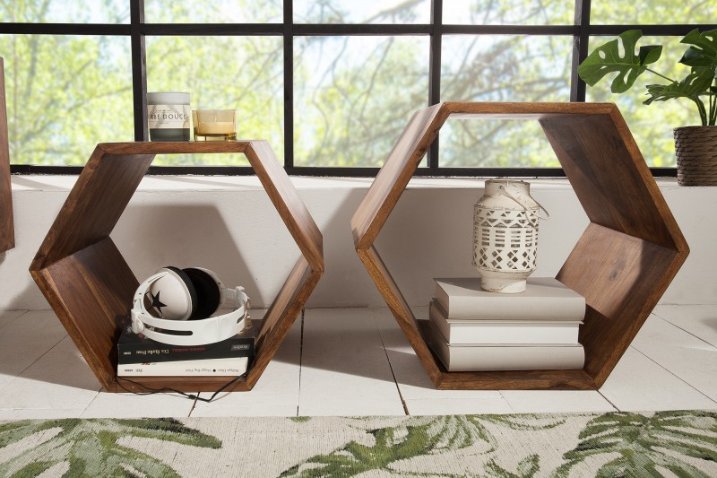 Konferenční stolek Greyson 2ks - Sheesham / 38917