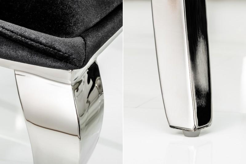 Jídelní židle Giacomo - černá, samet / 38871