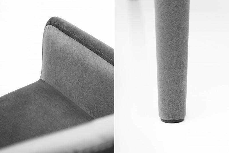 Křeslo Milano Velvet šedá loketní opěrka / 38851