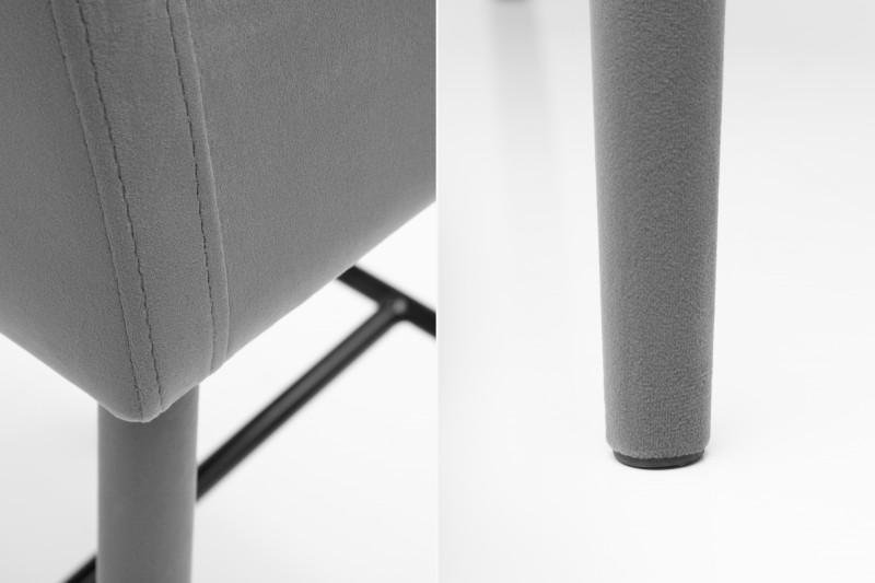 Barová židle Milano šedá samet  / 38853