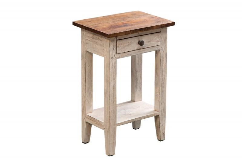 Odkládací stolek Hudson White 33cm x 52cm - bílý / 38560