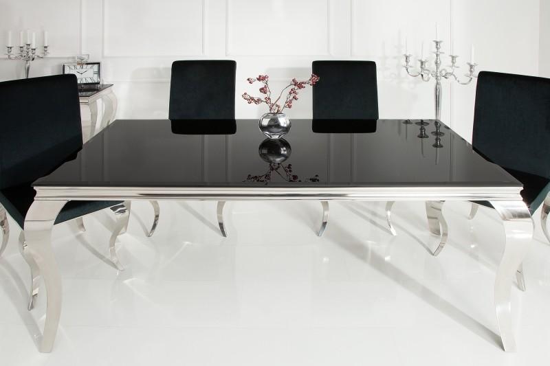 Jídelní stůl Modern Baroque 200cm černý / 37356