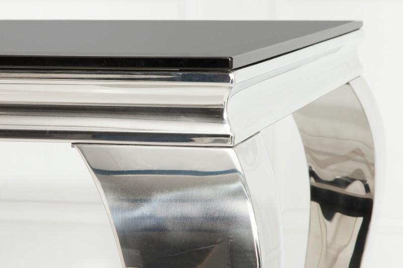 Jídelní stůl Giacomo 200cm x 100cm -  černá, stříbrná / 37356